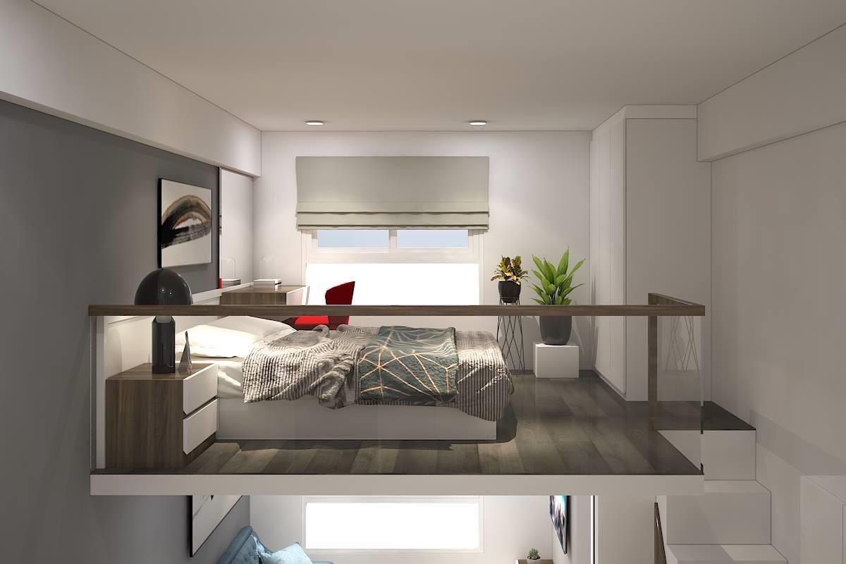 phòng ngủ căn hộ chung cư tân đức