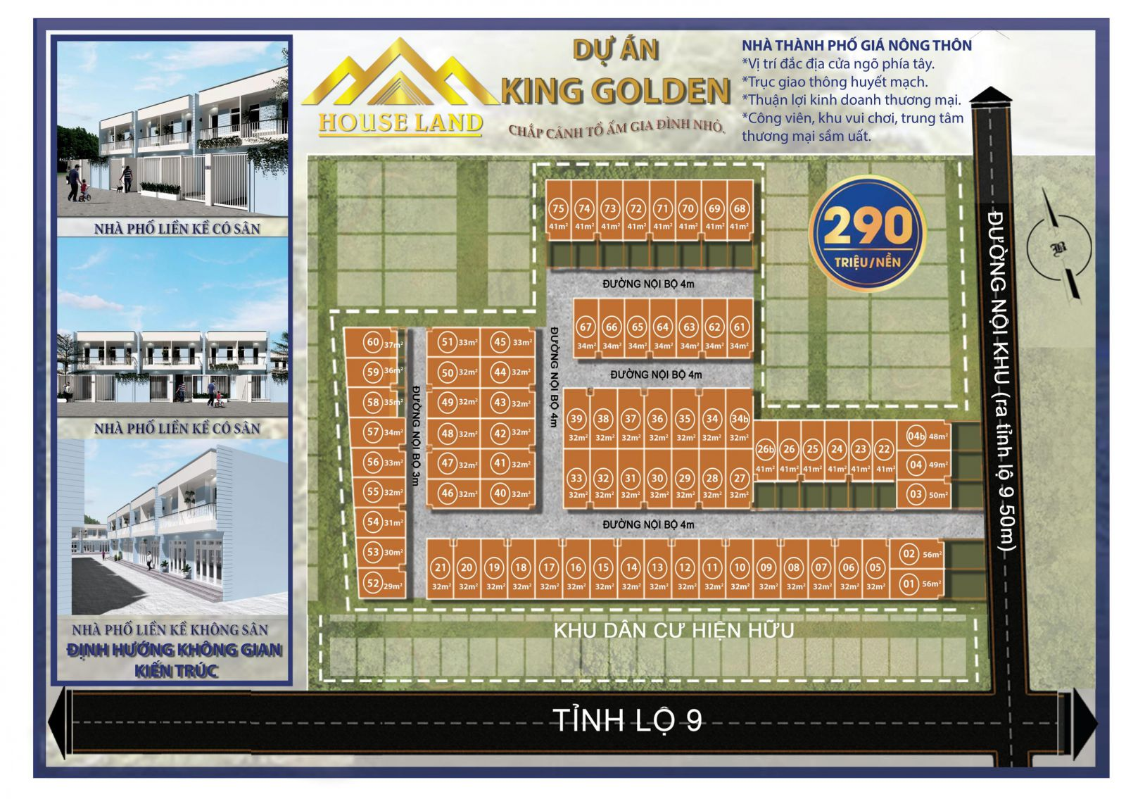tiện ích dự án king golden long an