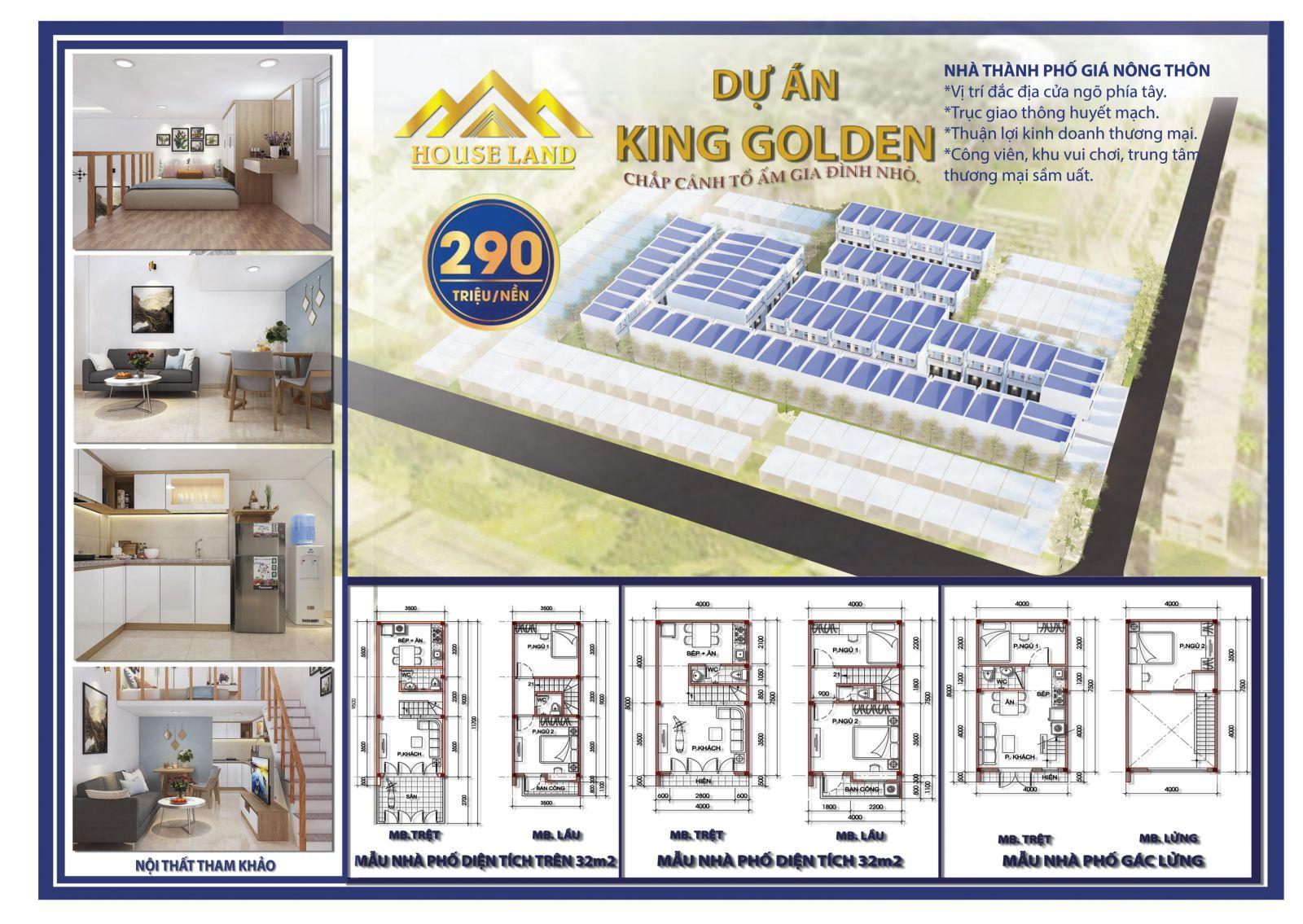 Mặt bằng phân lô tổng thể dự án đất nền & nhà phố King Golden Long An