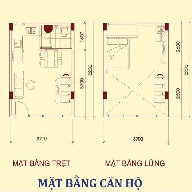 mặt bằng căn hộ family home