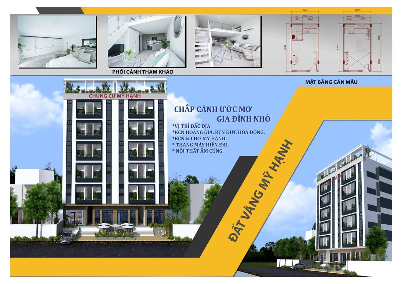 phối cảnh mặt bằng căn hộ chung cư mỹ hạnh đất vàng mỹ hanh