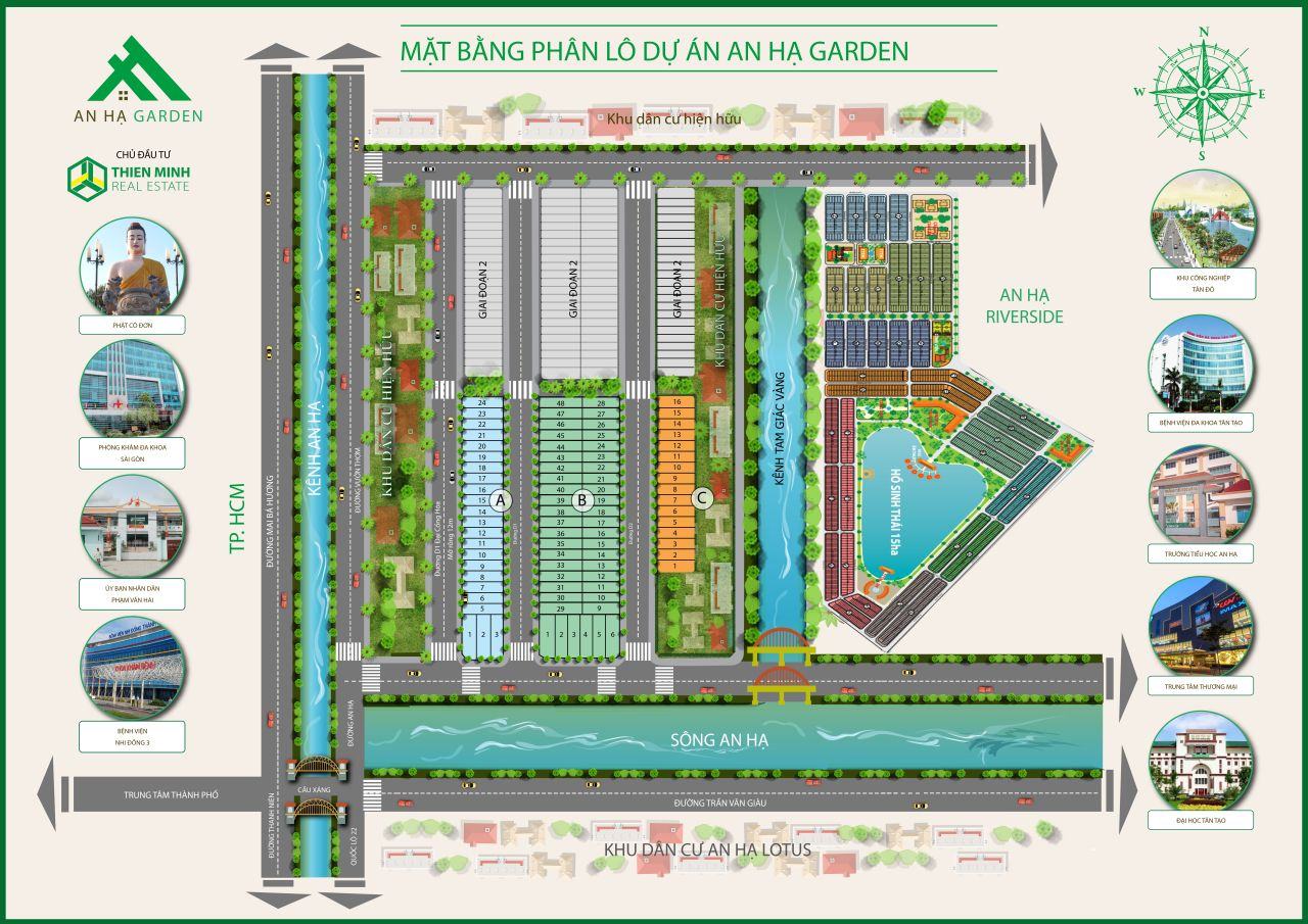 mặt bằng phân lô dự án an hạ garden