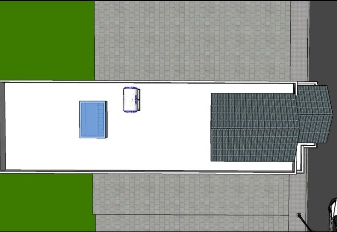 phối cảnh căn nhà đang xây A1-36 vista land từ trên cao