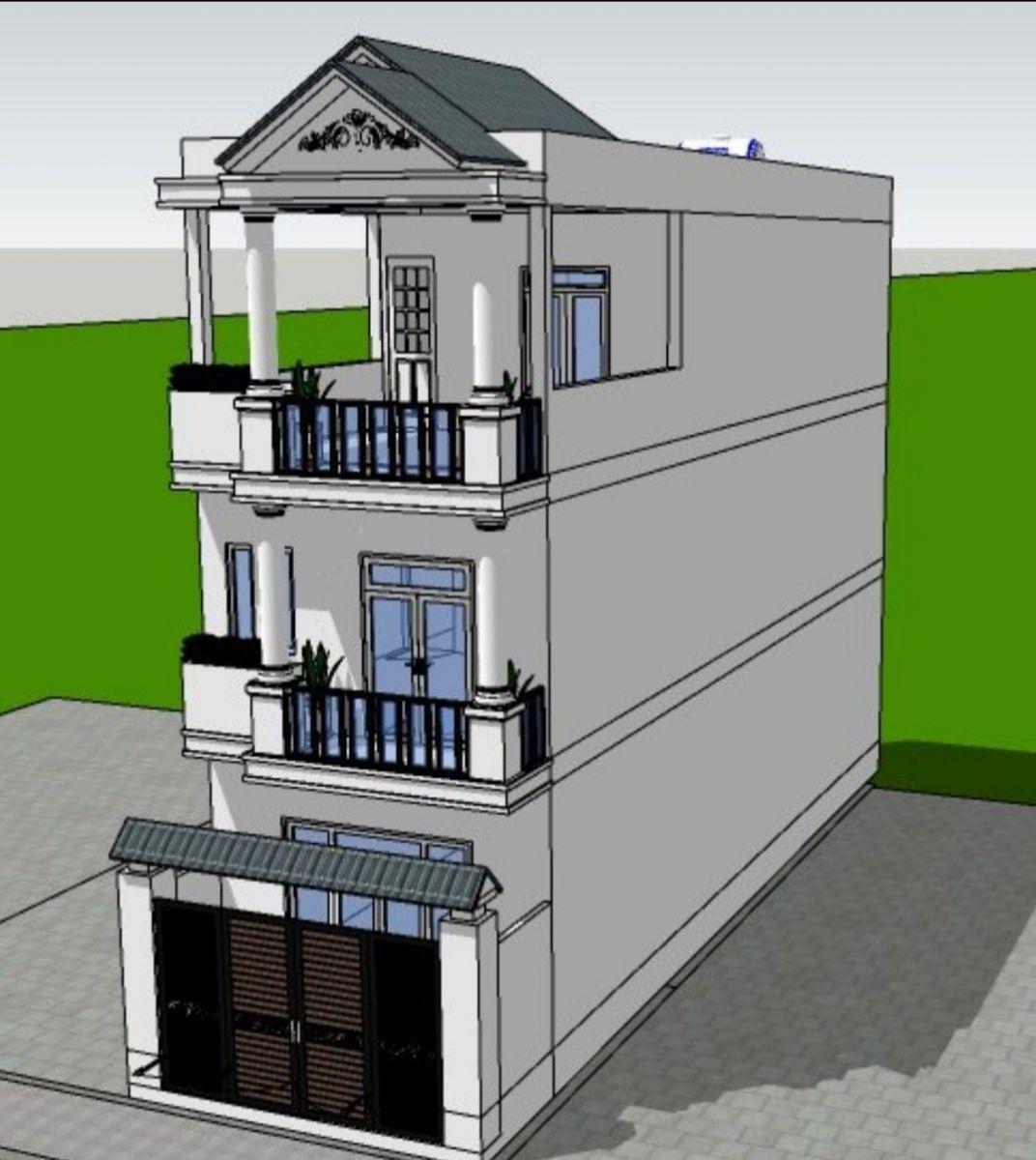 phối cảnh căn nhà đang xây A1-36 vista land