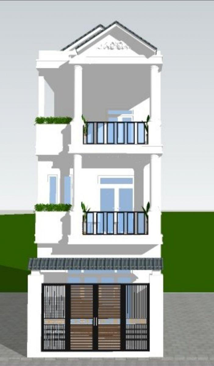phối cảnh căn nhà đang xây A1-36 vista land chính diện
