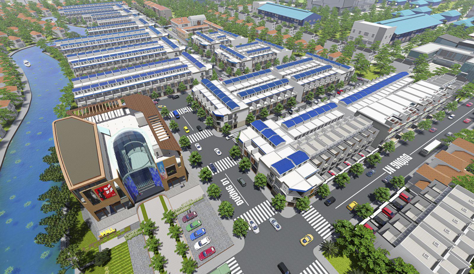 Phối cảnh khu dân cư Phước Đông Garden