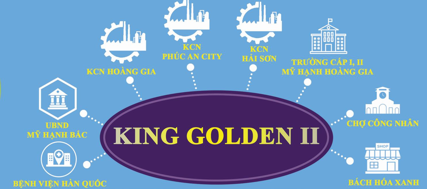 tiện ích đất nền nhà phố king golden
