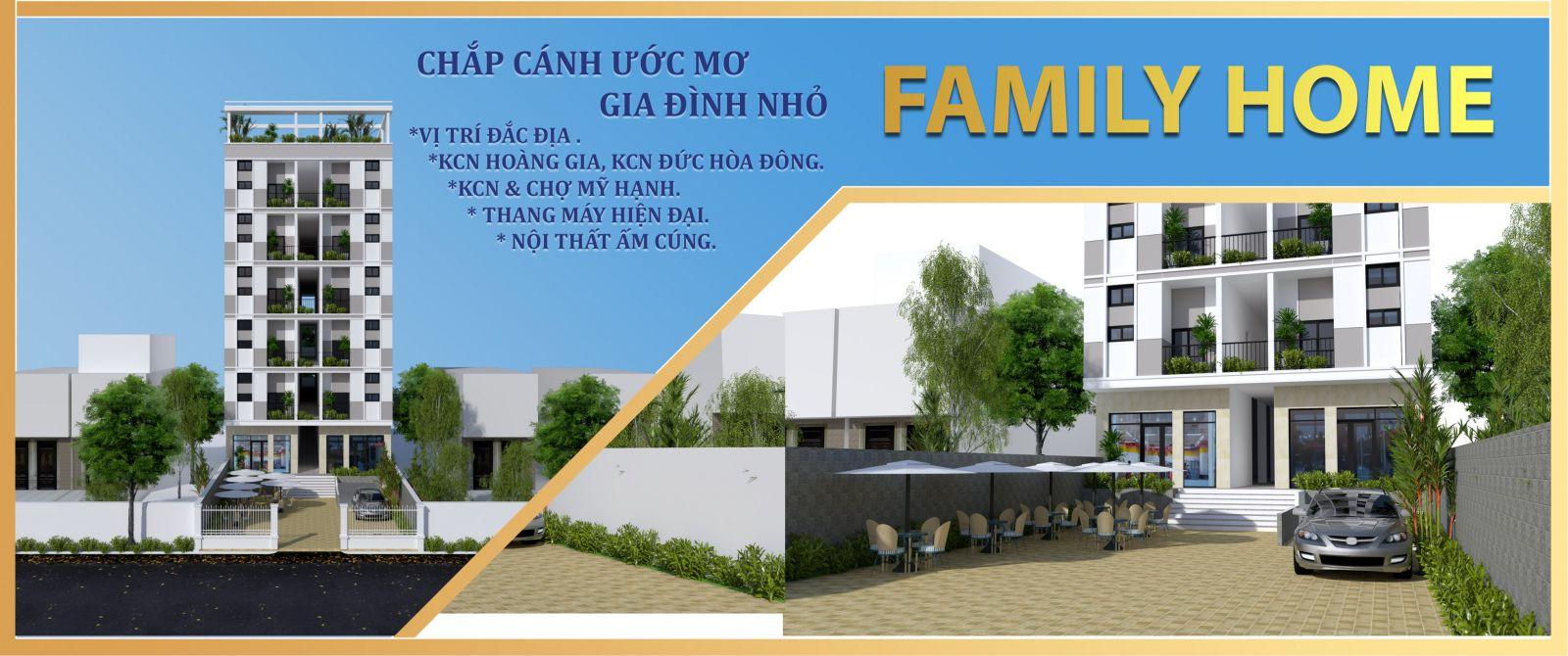 mô hình tổng thể căn hộ family home