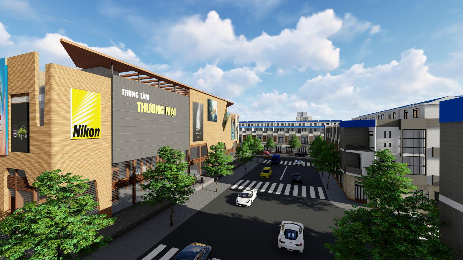 Trung tâm thương mại dự án Phước Dông Garden